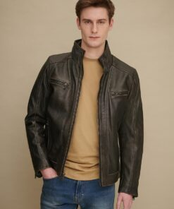 Foster Leather Cycle Jacket