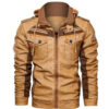 Denzell Outwear Rough Rider Leather Jacket