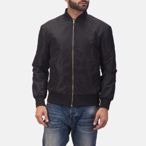 Zack Black Bomber Jacket