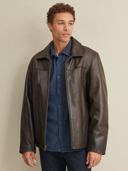 Leather Jacket with Thinsulate Lining