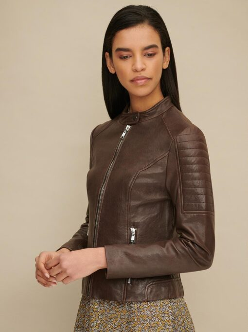 Phoebe Quilted Leather Scuba