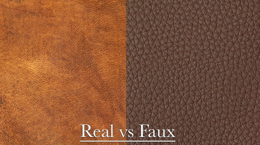 Faux leather vs real